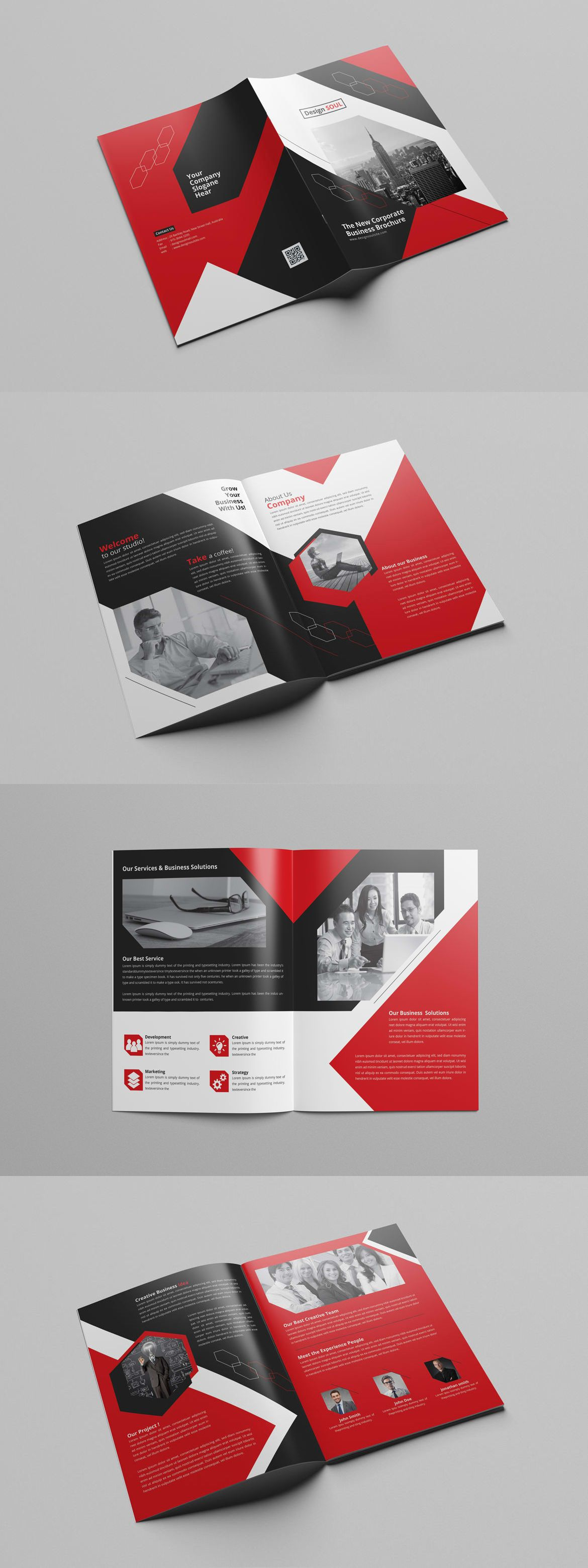 Corporate Brochure Template InDesign INDD Unlimited Downloads - Brochure template for indesign