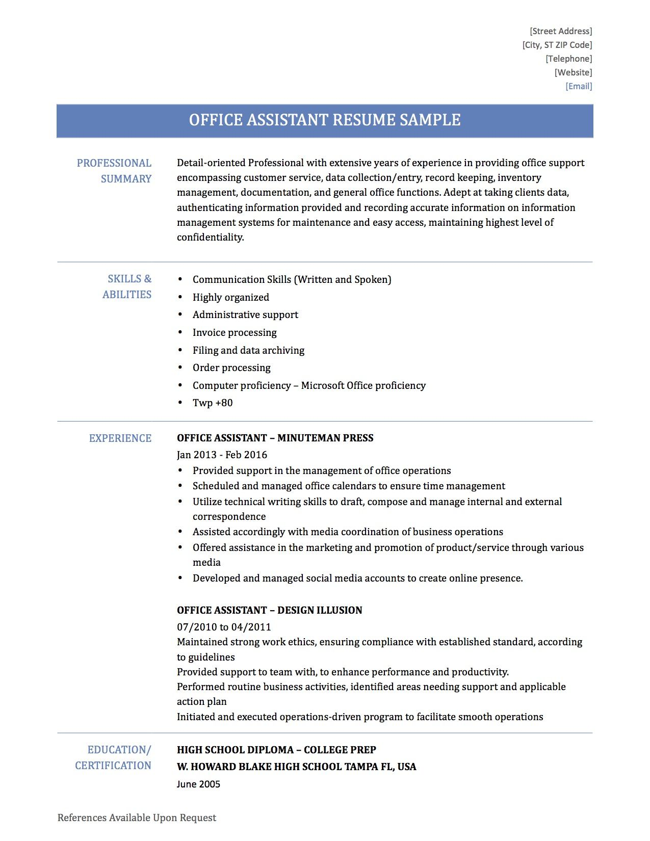 Entry Level Resume Templates Jobs Sample Examples Free Download