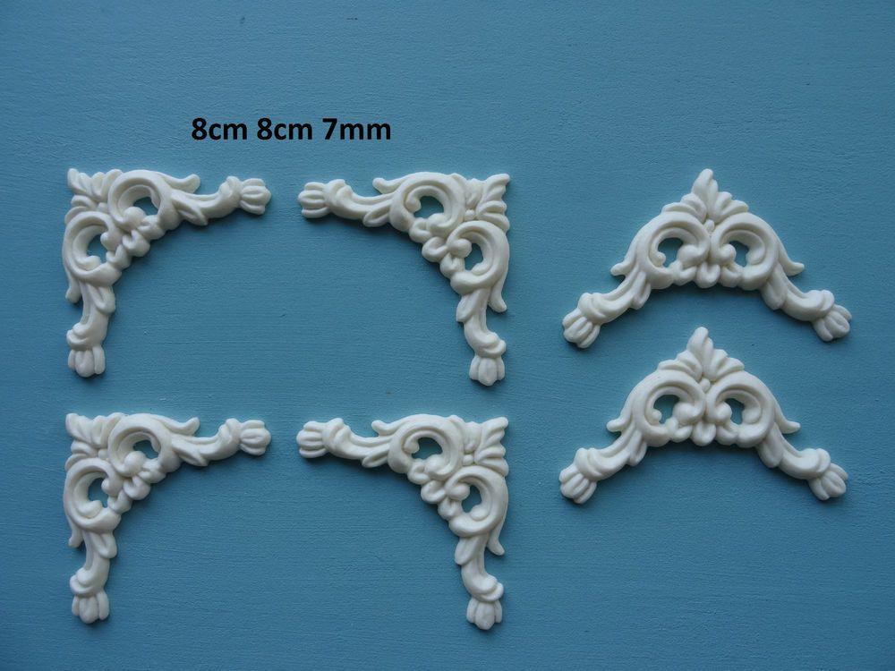 Buy generic wood carved corner onlay applique unpainted furniture
