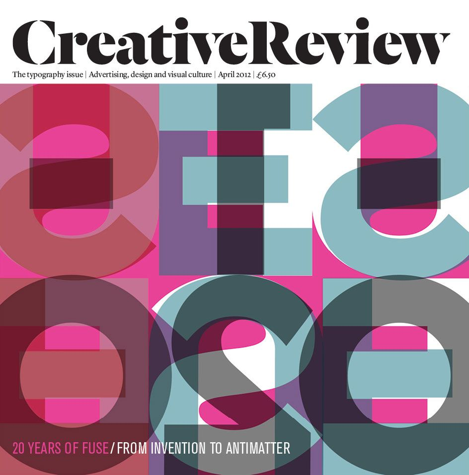 Nice #typography & #colors #cover CreativeReview #magazine April 2012