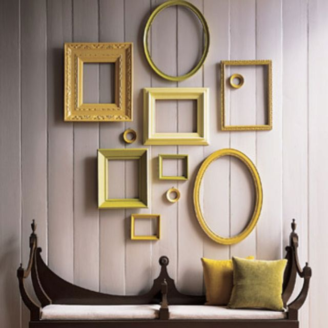 Empty frames #apartment #decorating #decor #frames Apartment