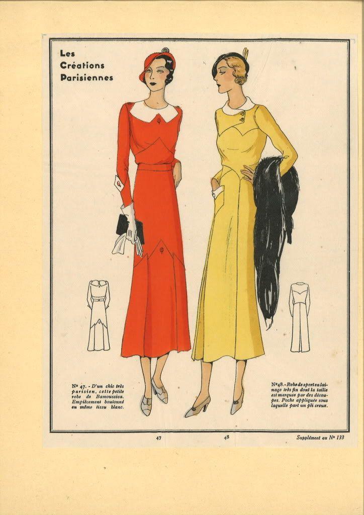 1930s dresses les cr ations parisiennes mode ann es 30. Black Bedroom Furniture Sets. Home Design Ideas