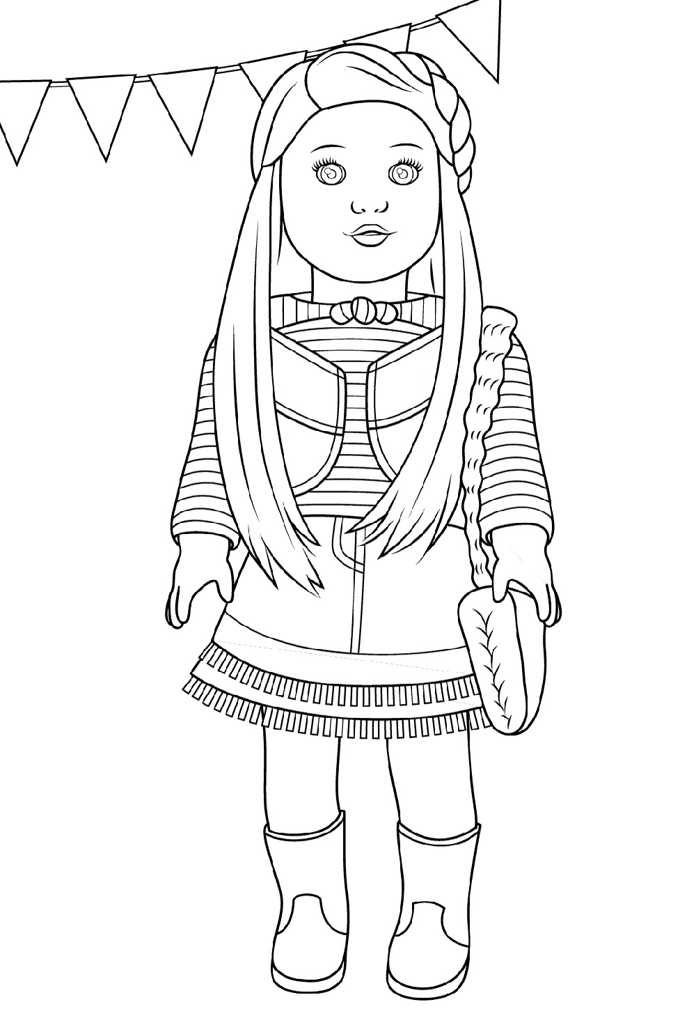 Baby Doll Coloring Page To Print American Girl Doll Pictures Coloring Pages For Girls Coloring Pages To Print