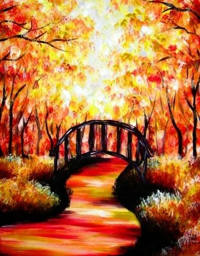 50 Best Easy Painting Ideas For Wall Beginners And Canvas Autumn Painting Painting Inspiration Night Painting