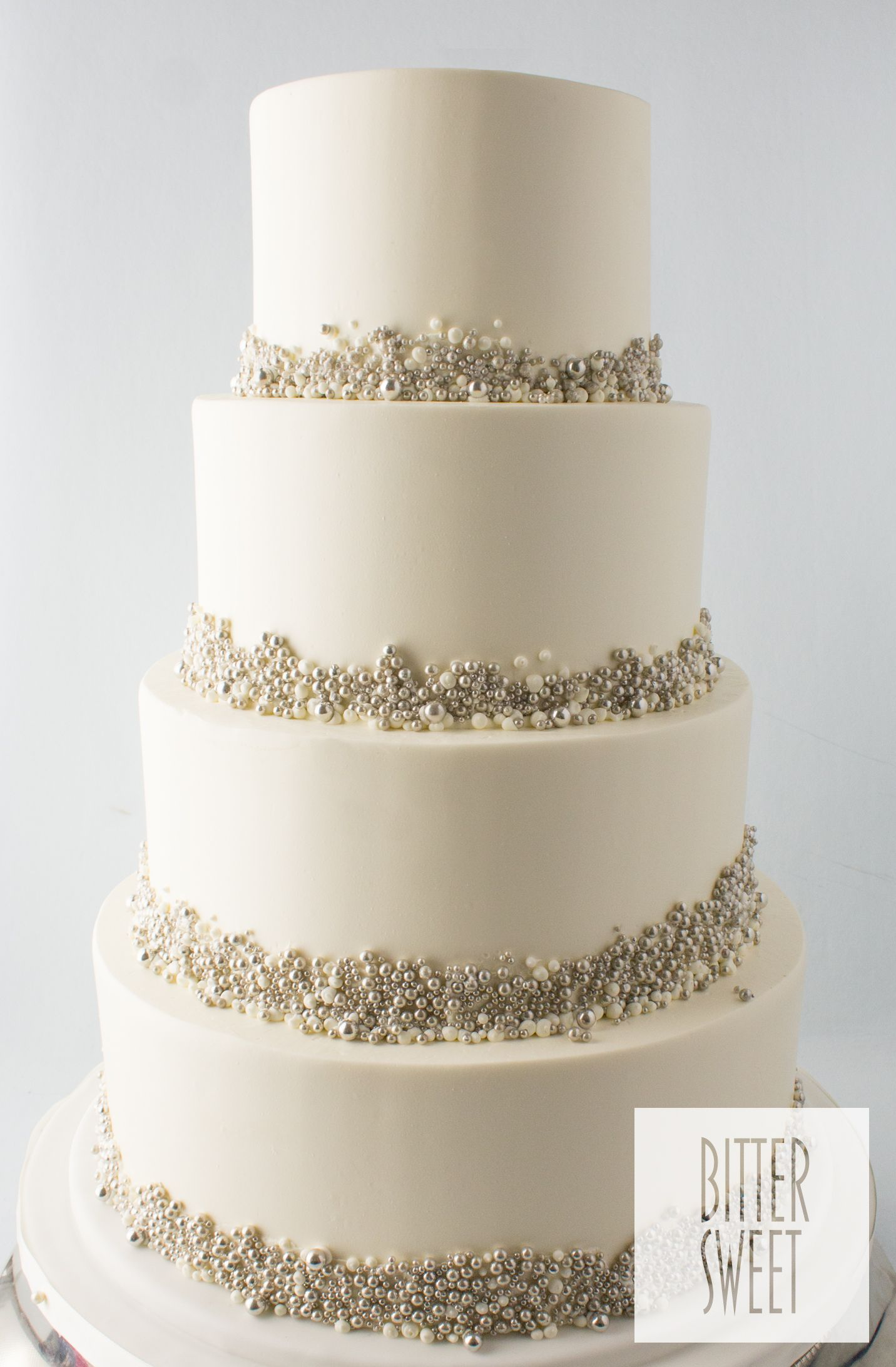 Wedding_Silver Dot on Dot.jpg | Cakes | Pinterest | Wedding cake ...