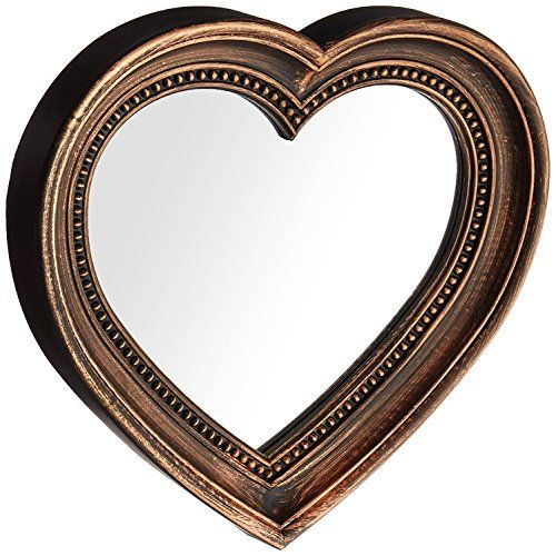 Angels Treasure 13 X 12 Heart Shaped Wall Mounted Mirror Vintage Antique Bronze Style See This Great Wall Mounted Mirror Vintage Mirror Wall Bronze Mirror