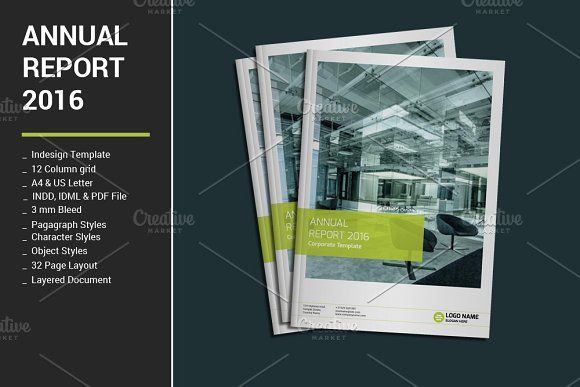 Annual Report By Alimran On Creativemarket Color - Annual report design templates 2016