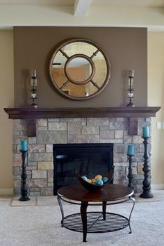 dark gray accent wall fireplace Google Search Living Room 2