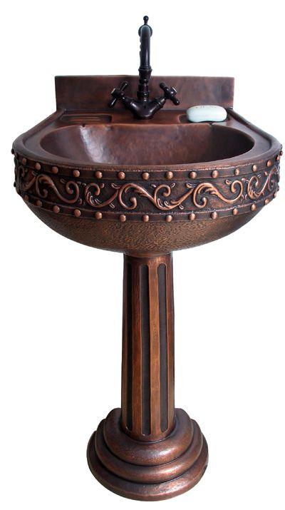 Copper Pedestal Sink Roman Pedestal Sink Pedastal Sink Beautiful Bathroom Vanity