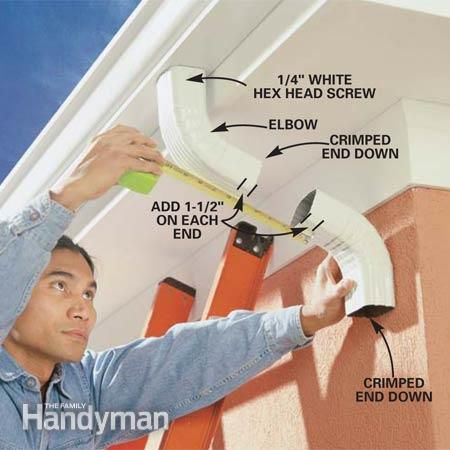 Gutter Replacement: How to Install Gutters #familyhandymanstuff