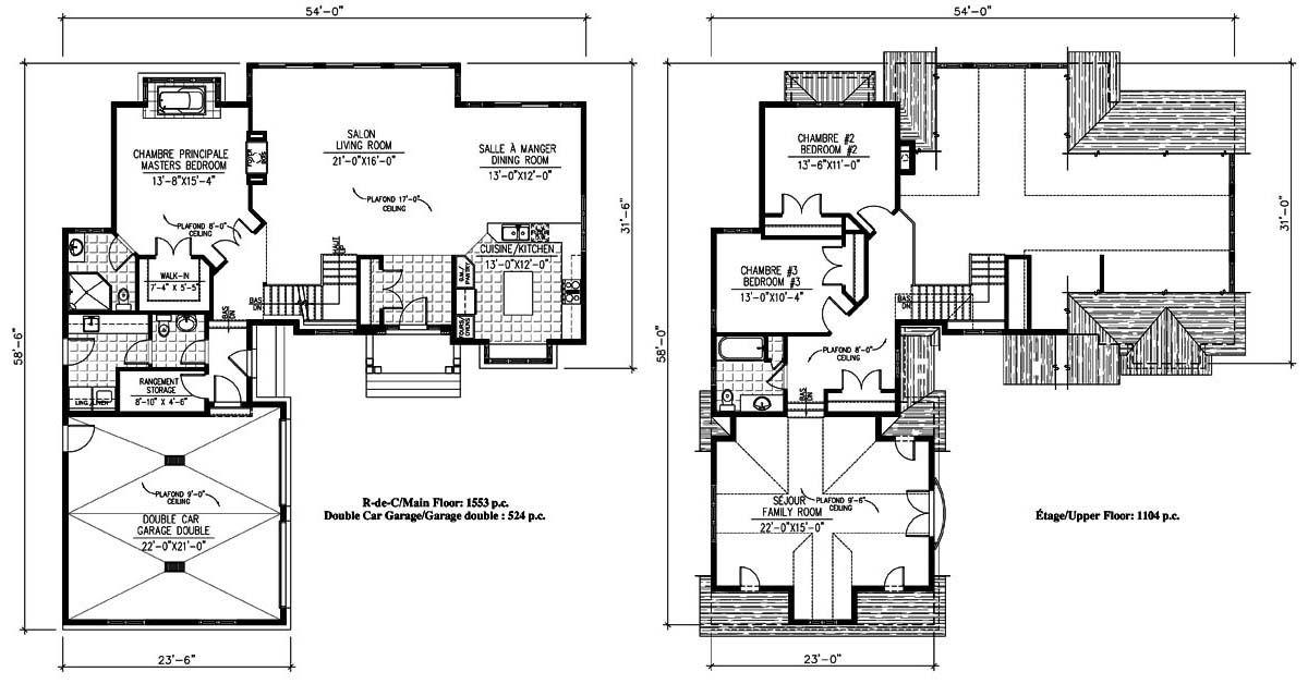 740 - L\u0027Anthémius Bungalow Chalet Cottage Plans Design Plan de - plan de maison design