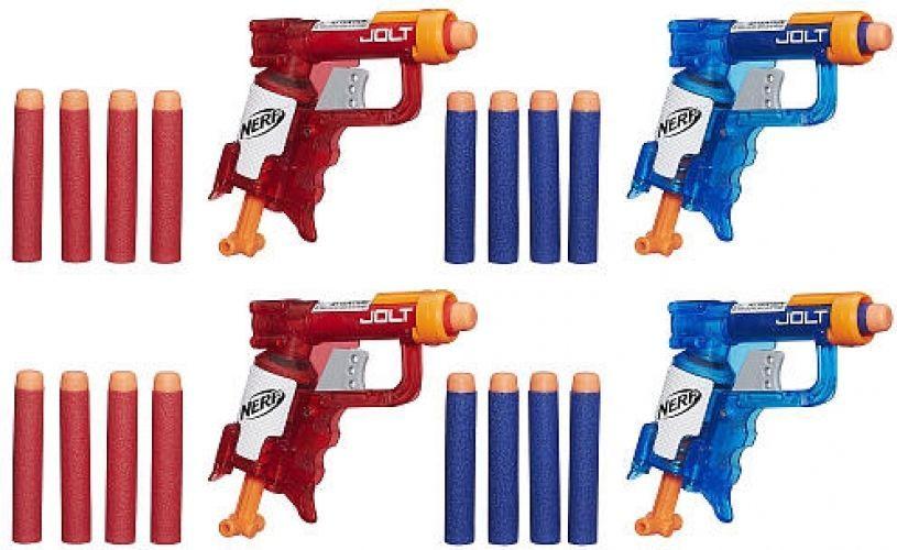 Mini Nerf Guns Team Pack Elite N-Strike Dart Jolt Blasters Darts Kids Toy  Gift