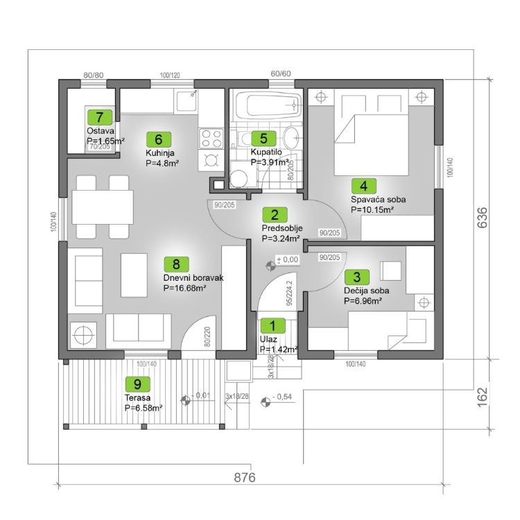 Montažna kuća Klasik Negal Ivanjica Tip Montažne kuće 57