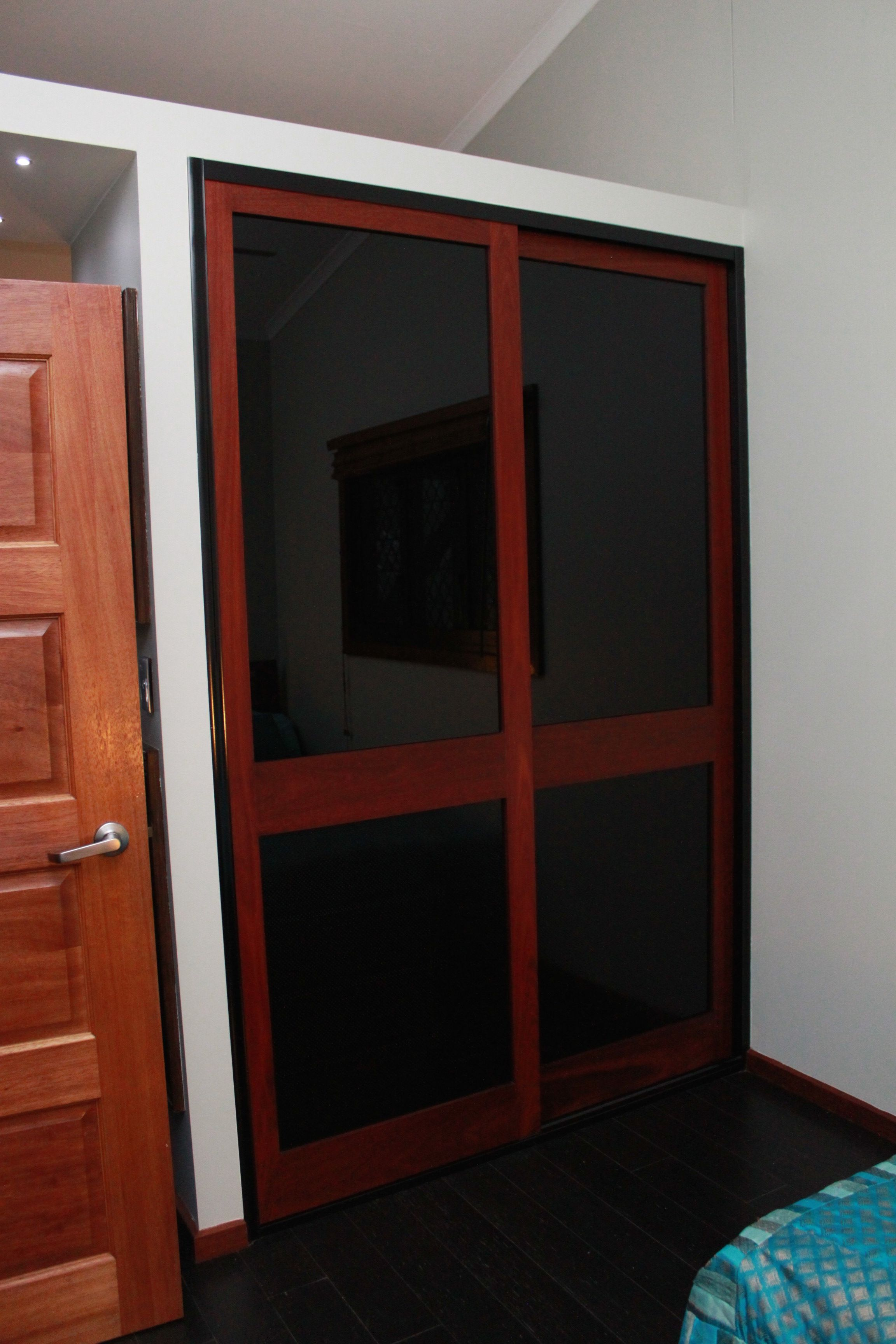Timber Glass Doors Timber Sliding Doors With Black Glass Inserts From Our Traditional