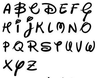 Walt Disney like font Font Letters svg eps dxf png Cut file for
