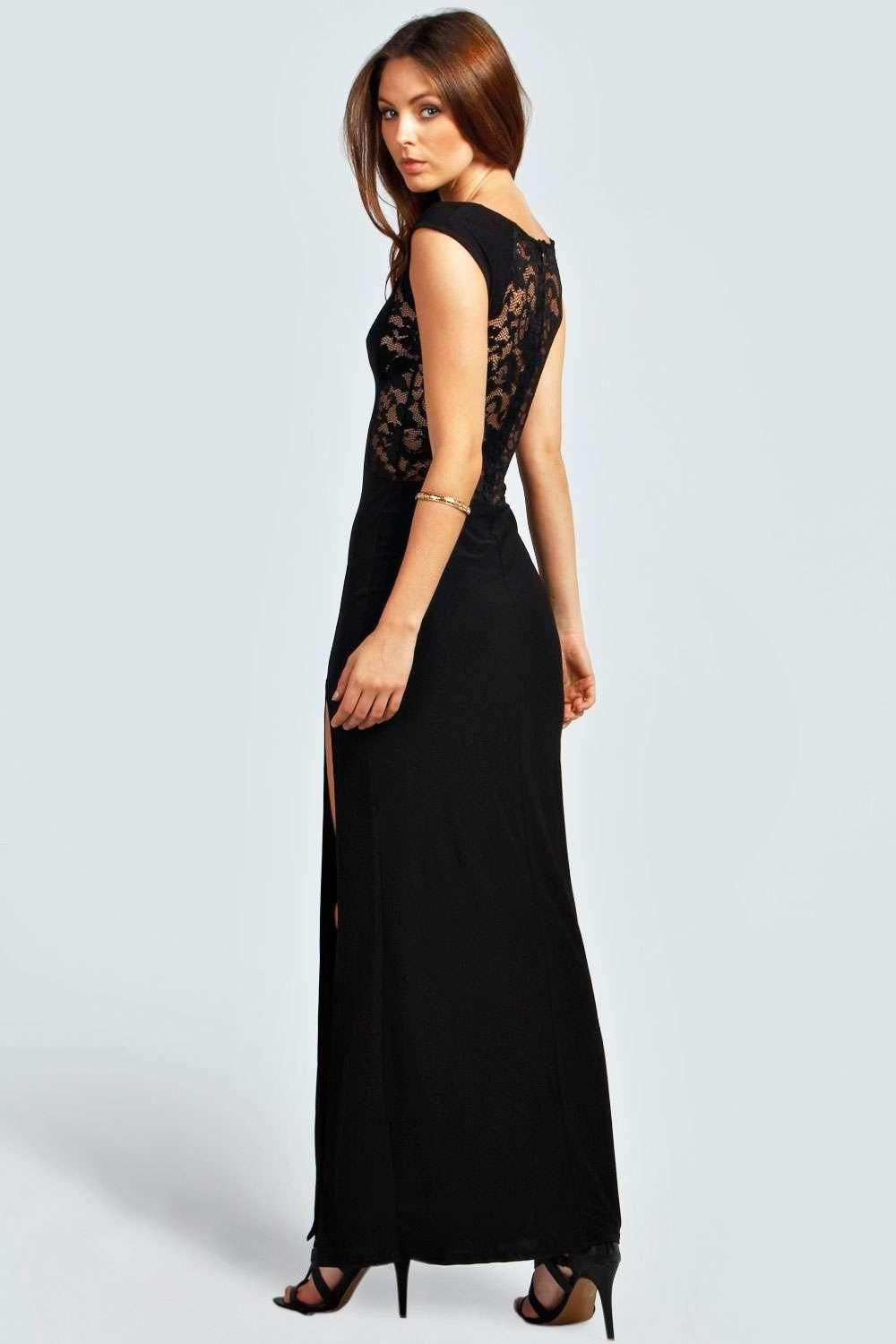 90171a362e81 Maddie Lace Back Front Thigh Split Maxi Dress at boohoo.com | Style ...