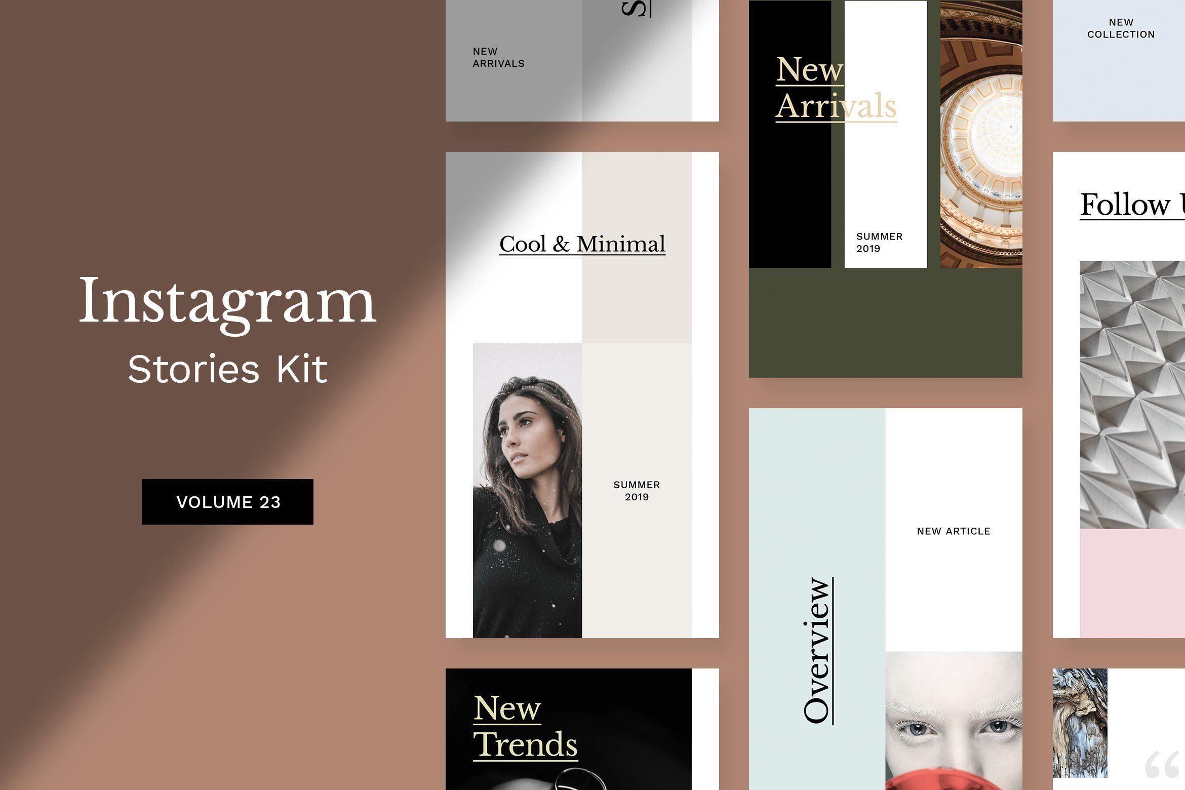 . Instagram social media kit  10 unique and modern PSD templates for