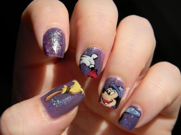 Fantasia \'Mickey Mouse\' Nail Art | disney nails | Pinterest | Arte ...