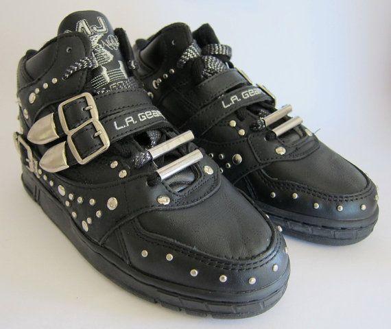 4f34865b9be3b Vintage Michael Jackson LA Gear Sneakers / 1980s LA Gear High Tops / 80s  Sneakers / Deadstock Rare / Size 6.5