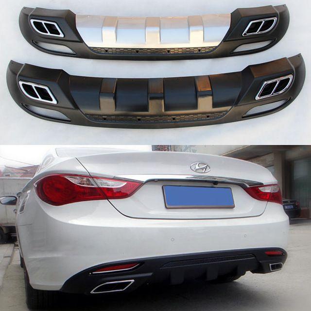 Carbon Front Bumper Body Skirt Protector Sticker For Hyundai LF Sonata 2015+