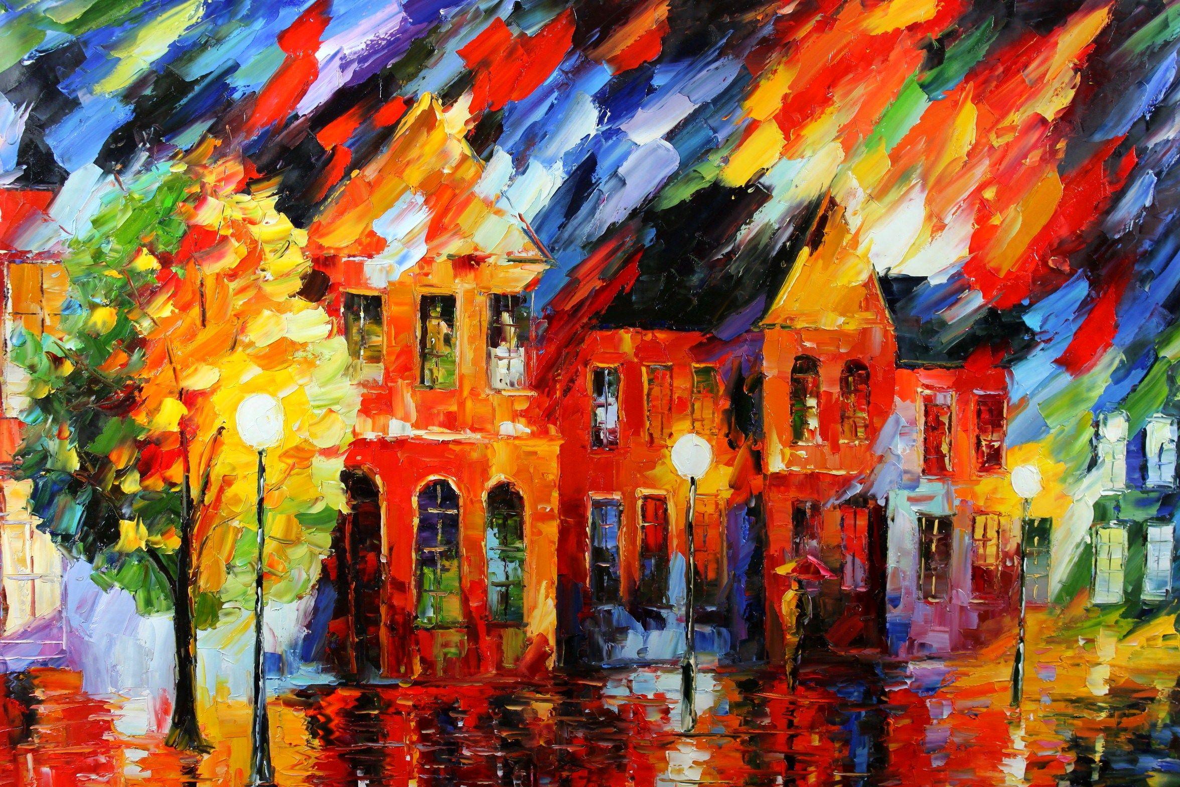 Victor Figol Stunning Autumn Night Modern art