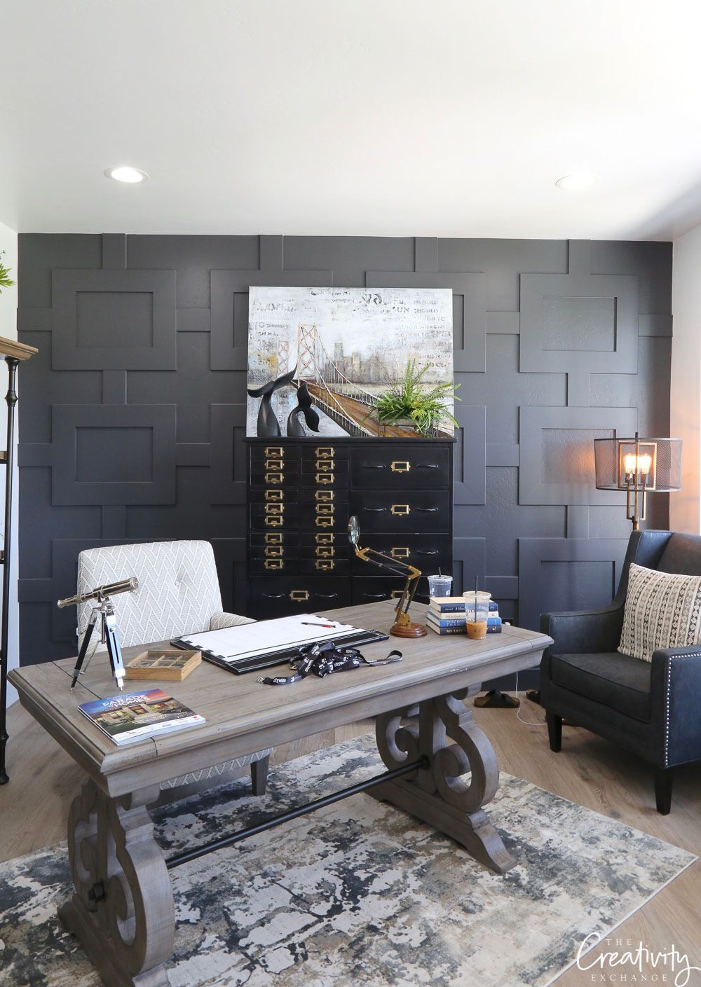 tips for using dark moody paint colors home office on office accent wall color id=95141