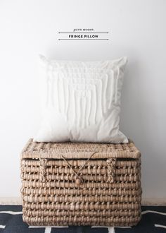 Yarn Fringe Pillow DIY