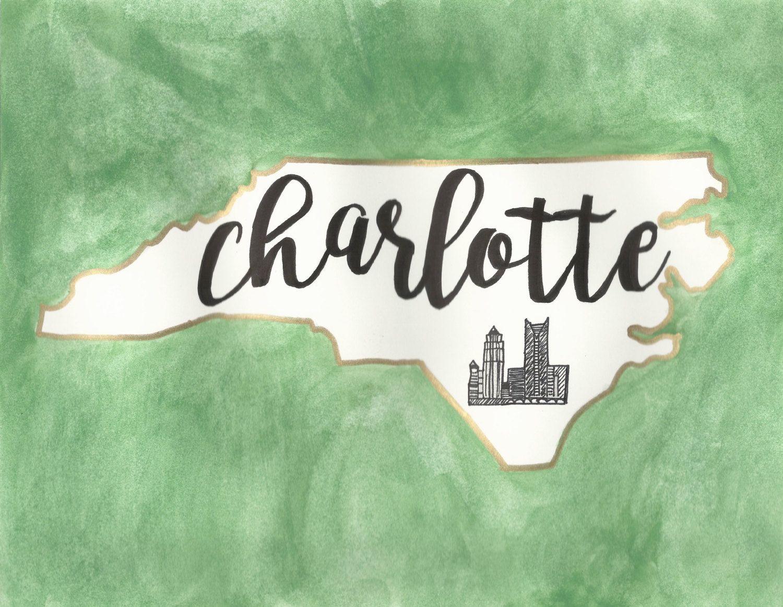 Charlotte North Carolina Watercolor, UNCC 49ers
