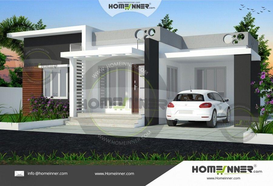 3bhk Low Cost Home Exterior Kerala House Design Modern Exterior House Designs Small House Elevation Design
