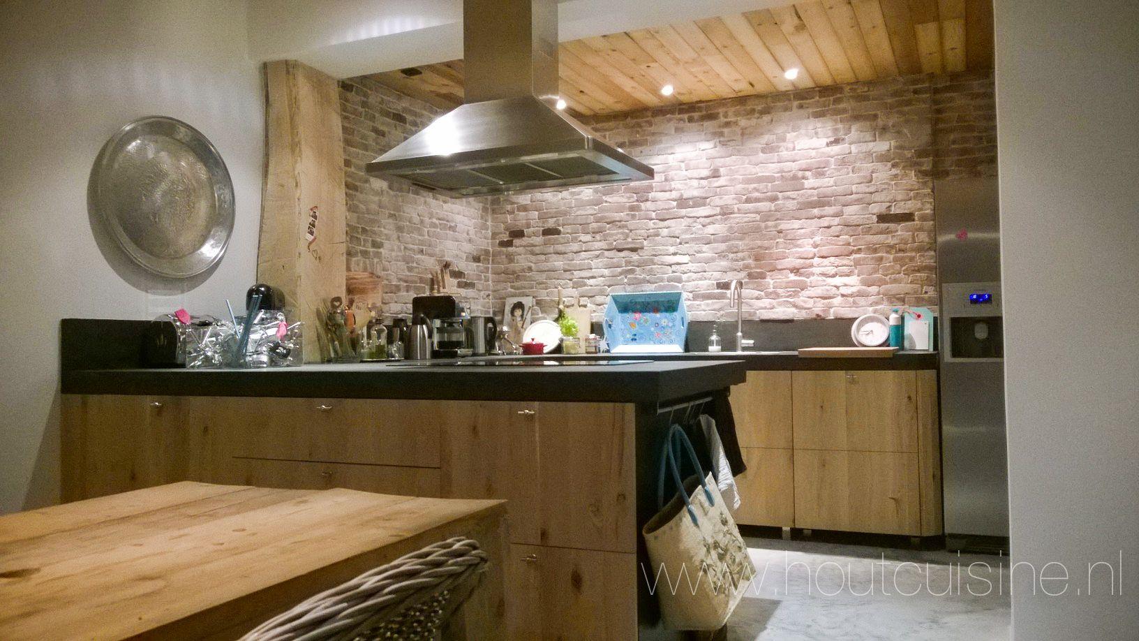 Boerenkeuken moderne uitstraling met eiken ikea for Interieur stoffen