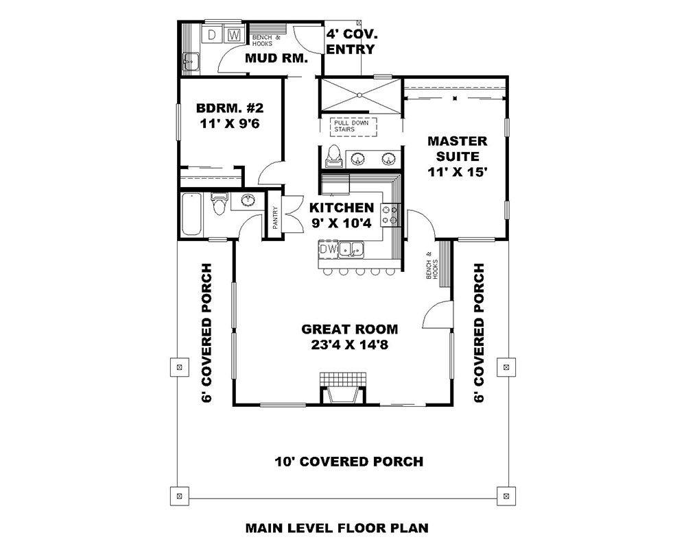 2 Bedrm 1176 Sq Ft Small House Plans Plan 132 1697 Floor Plans House Plans Small House Plans