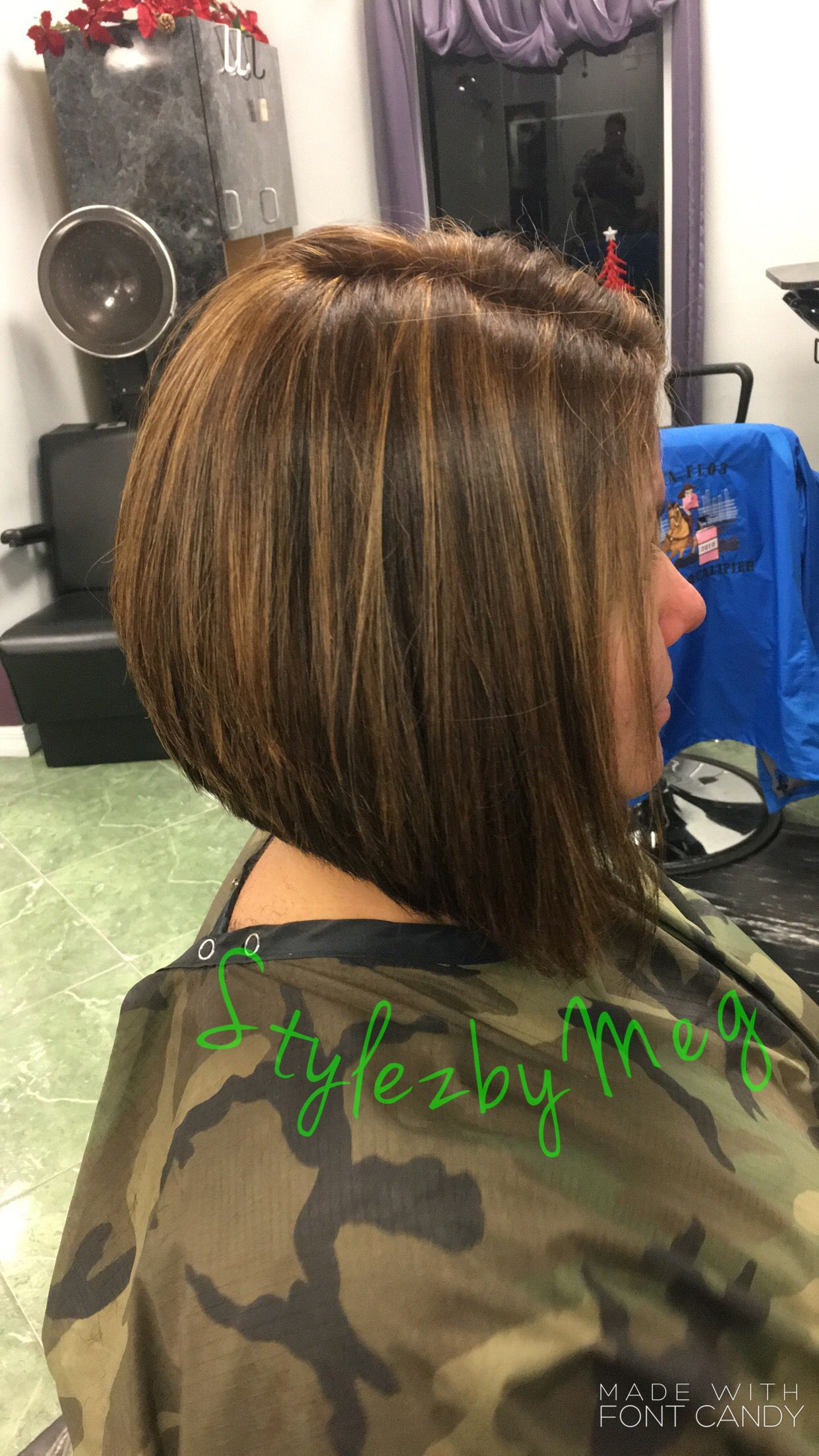 Swinginverted Bob With Paul Mitchell Color And Caramel Highlights