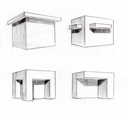 影のつけ方 手描きパースの描き方 建築パース 影 パース