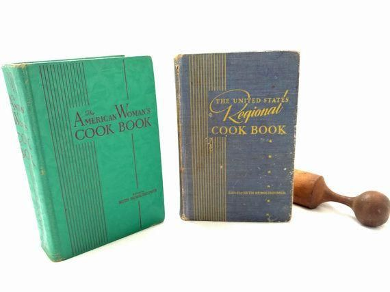 The American Woman's Cookbook Ruth Berolzheimer United States Regional Cookbook Lot Illustrated American Recipes Culinary Arts Institute  - Vintage Cookbooks -