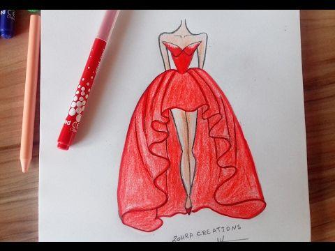 dc75c611e32 17162) How to draw a wonderful dress - YouTube