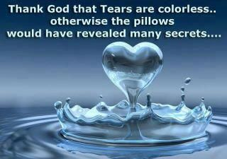 if tears had a color our pillow would be colorful