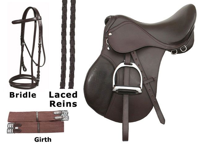 15 16 Brown Event Jumping Saddle Package