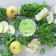Kale Apple Lemon and Juice