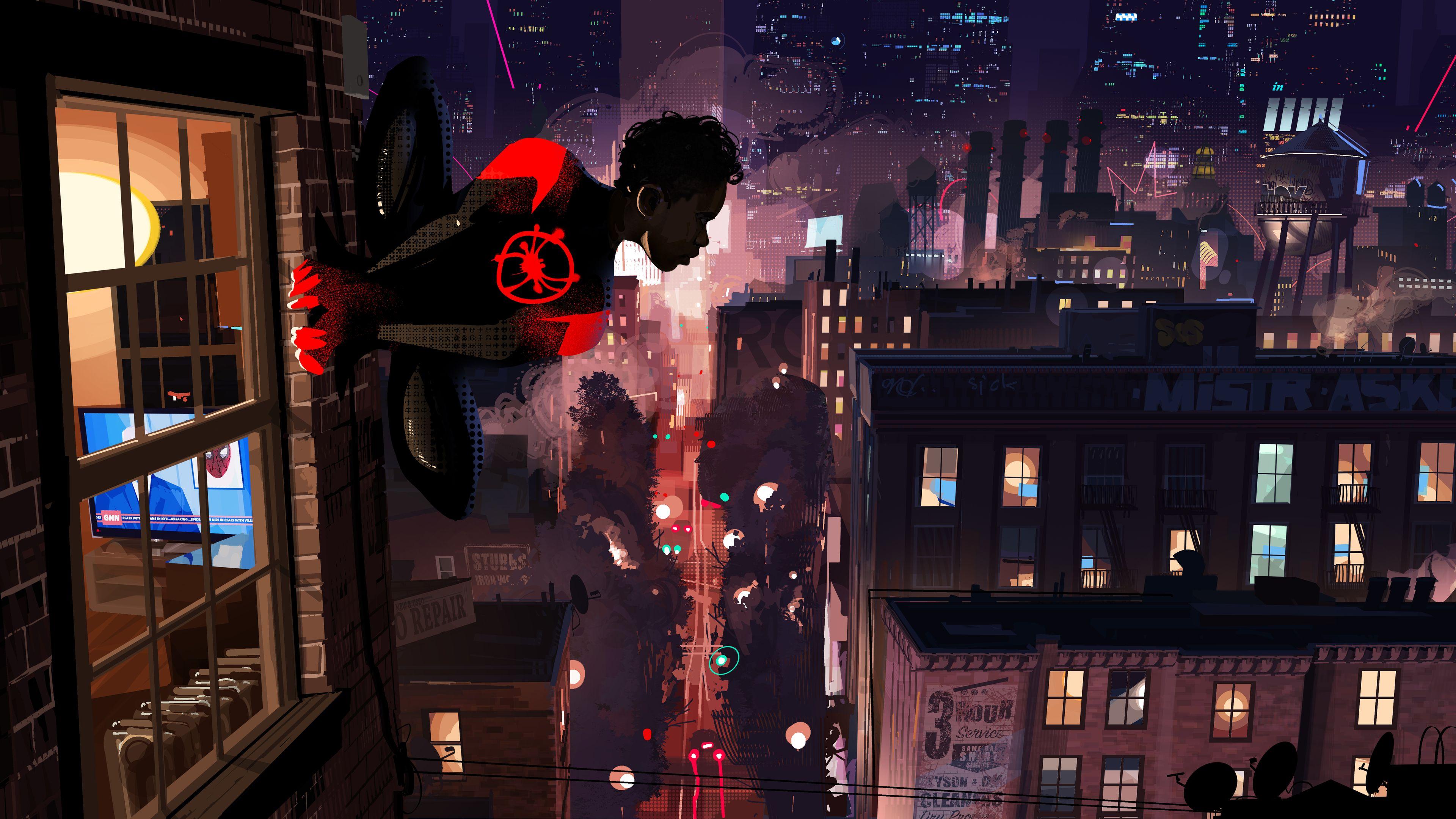 Spiderman Into The Spider Verse 4k Spiderman Wallpapers Spiderman Into The Spider Verse Wallpapers Movies Wallpapers Verse Art Spider Verse Concept Art World
