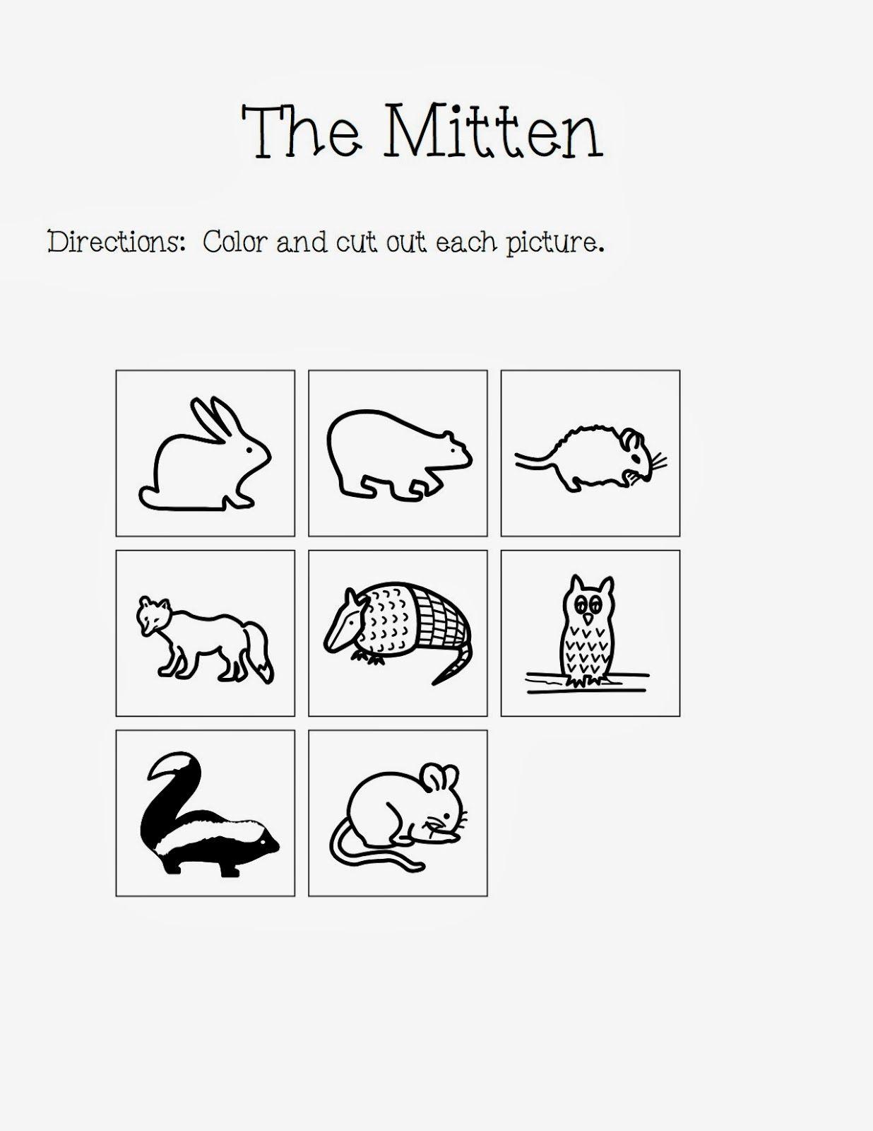 The Autism Adventures Of Room 83 The Mitten By Jan Brett Activities