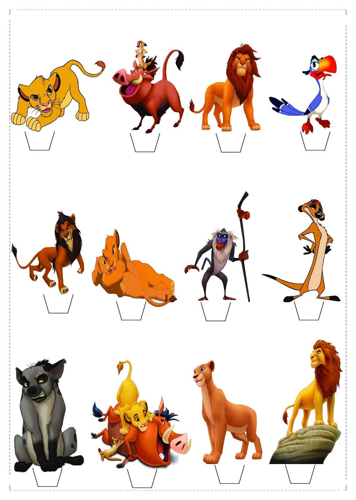 12 The Lion King Standup Fairy Cupcake Topper *WAFER* Edible | Lion ...