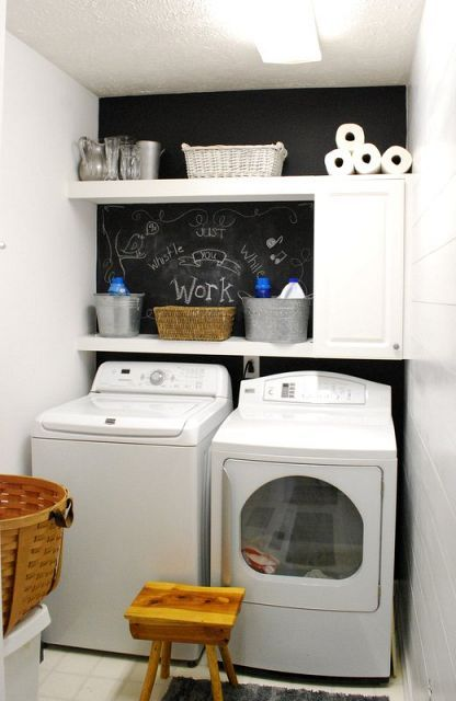 Hometalk :: Laundry Room made over, by a girl on a budget