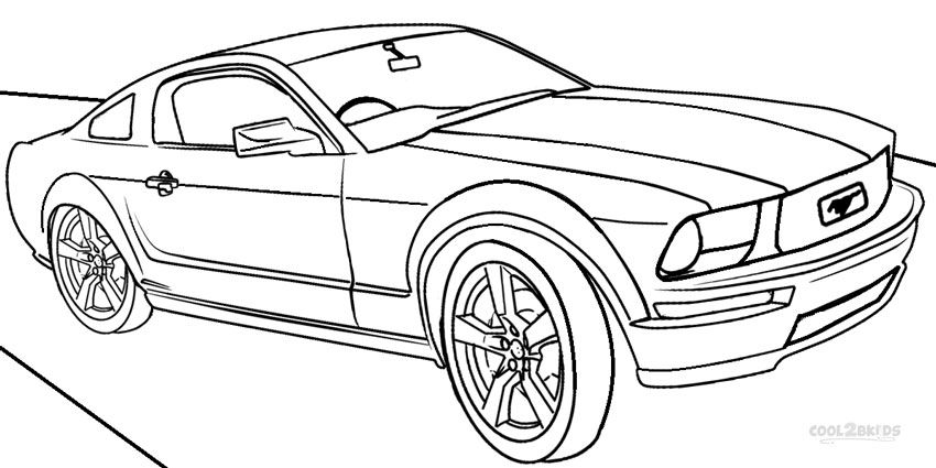 Printable mustang coloring pages for kids cool2bkids for Free cars coloring pages to print