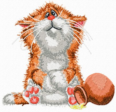 Cat not Happy machine embroidery design. Machine embroidery design. www.embroideres.com