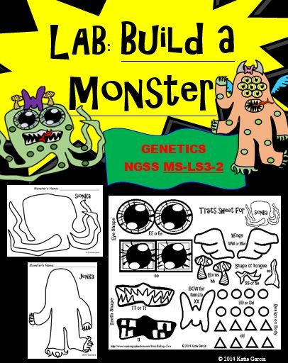 Genetics Lab - Build a Monster | Interactive science ...