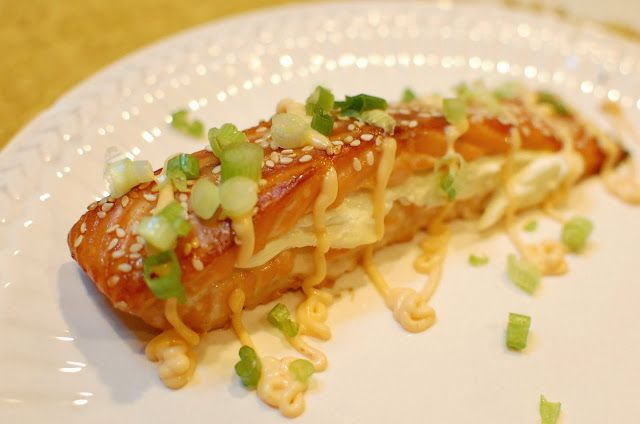 Reckless Abandon: Stuffed Salmon with Spicy Mayo Sauce