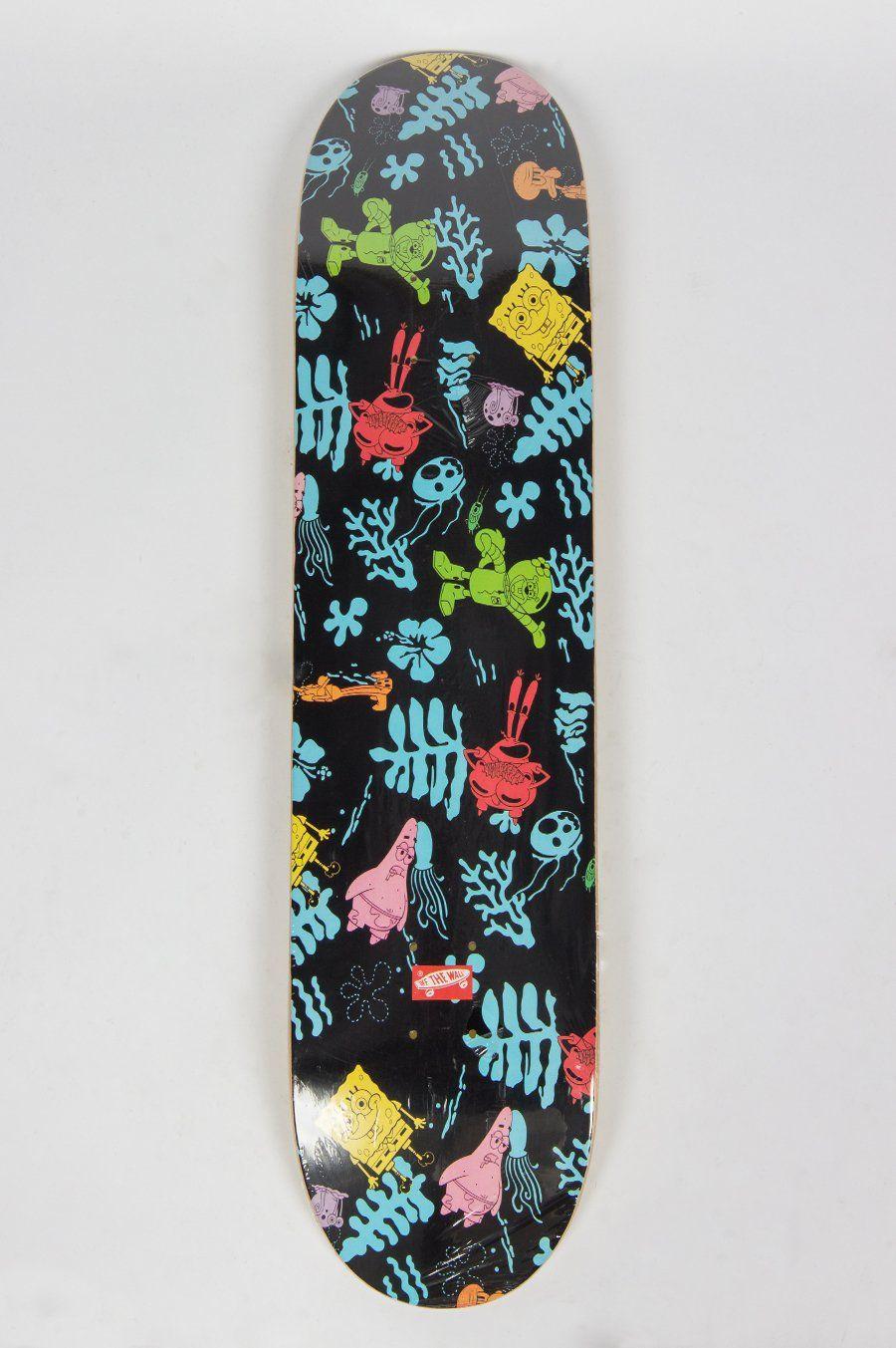 Nickelodeon Skateboard : nickelodeon, skateboard, VAULT, SPONGEBOB, SKATEBOARD, ALOHA, Skateboard, Decks,, Painted, Skateboard,, Spongebob