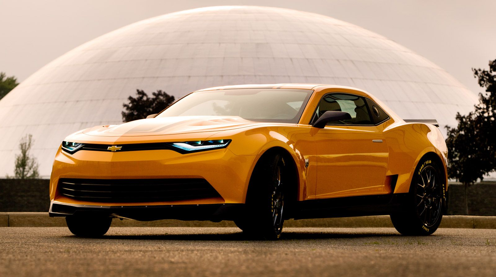 Michael bay has released two new images of transformers bumblebee car now a 2014 concept camaro