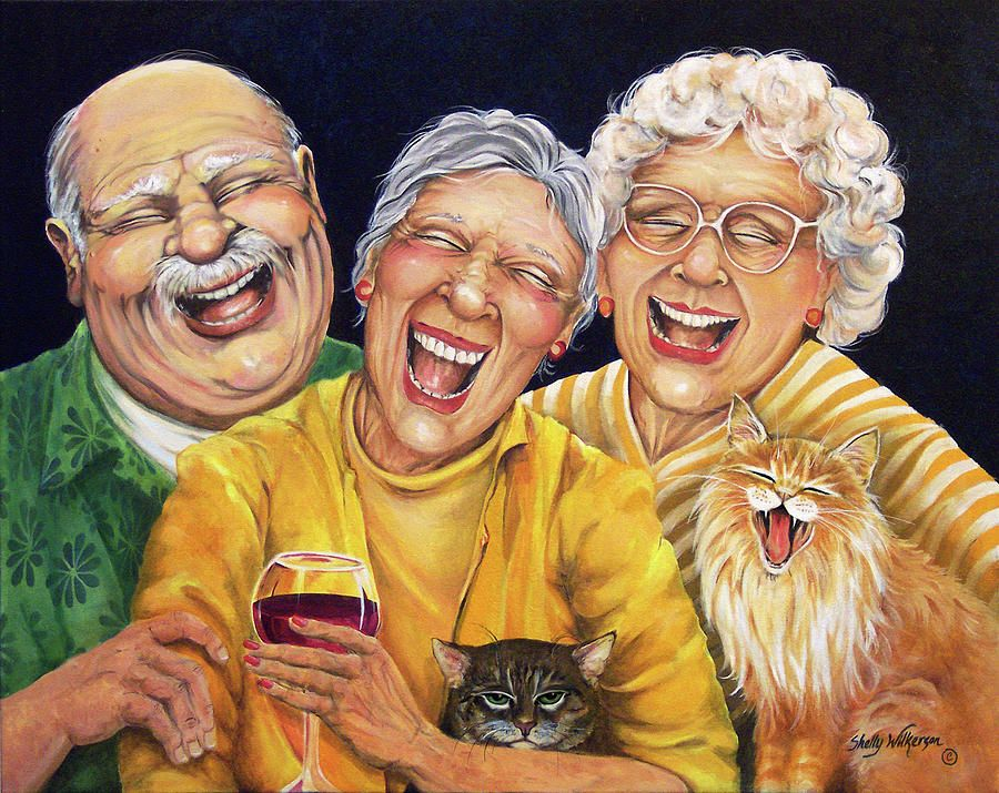 старушка и три парня - 9