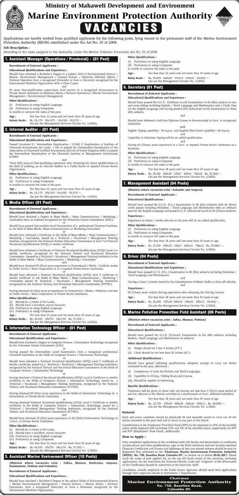 Opportunities in Sri Lankan Government Job Vacancies at